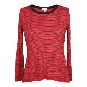 Love, Fire High/low Striped Top sz M NWT $34